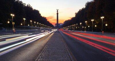 Adesivo Straße des 17. Juni a Berlino mit Siegessäule