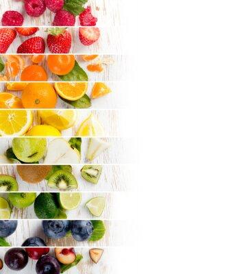 Adesivo Stripes di mix di frutta