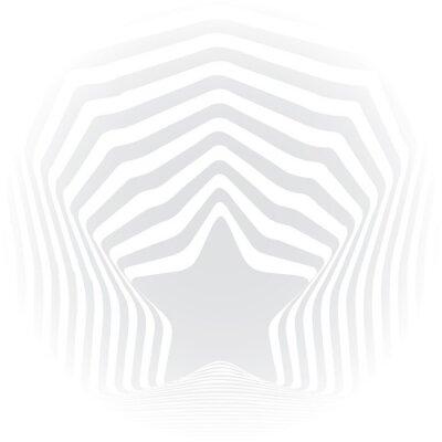 Adesivo strisce grigie stelle illusione ottica effetto arte visiva.
