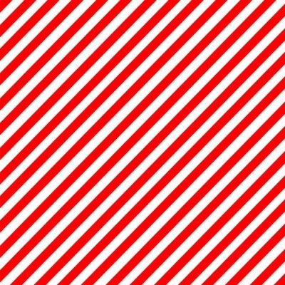 Adesivo striscia diagonale modello vettore rosso-bianco