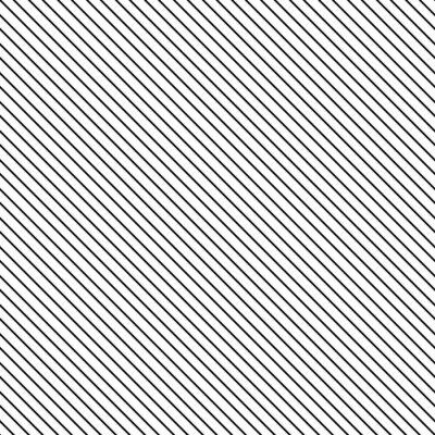 Adesivo striscia diagonale seamless. Geometrica classica linea sottile sfondo bianco e nero.