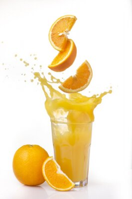 Adesivo succo d'arancia spruzzi
