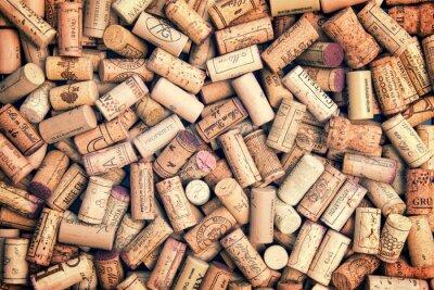 Adesivo Sugheri del vino sfondo