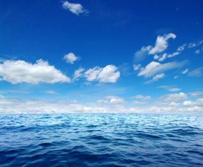 Adesivo superficie di acqua di mare blu