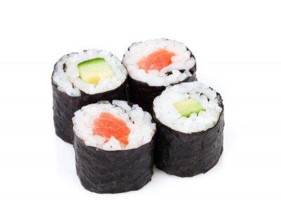Adesivo Sushi maki set con salmone e cetriolo