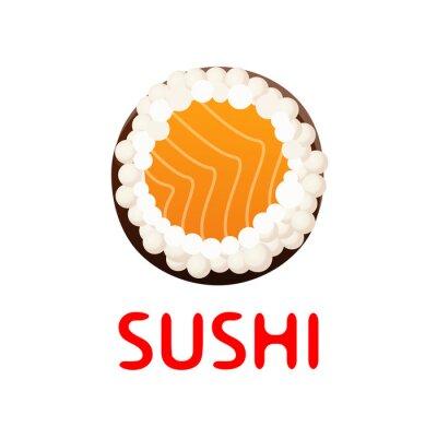 Adesivo Sushi Roll on White