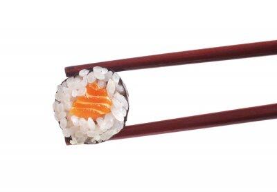 Adesivo Sushi su sfondo bianco
