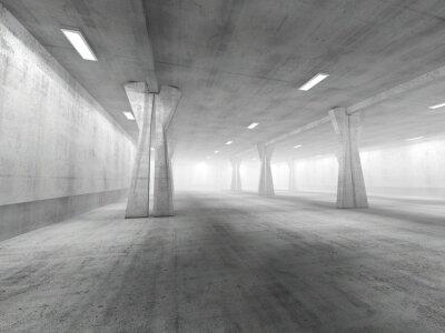 Adesivo Svuotare area di parcheggio sotterraneo di rendering 3D