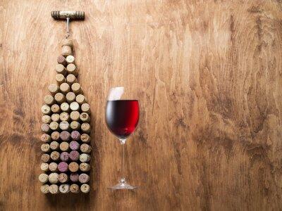 Adesivo tappi per vino a forma di bottiglia di vino.