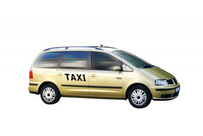 Adesivo Taxi bus freigestellt