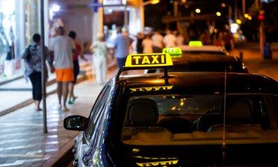 Adesivo Taxi segno durante la notte
