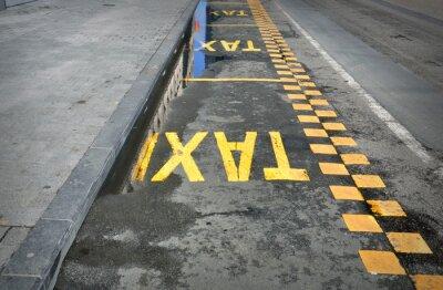 Adesivo TAXI - segno sulla strada