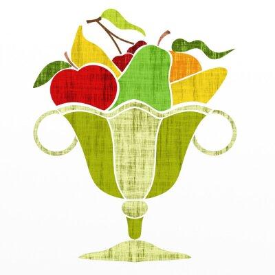 Adesivo tazza con frutta