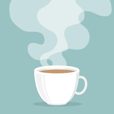 Adesivo Tazza di caffè con fumo galleggiare