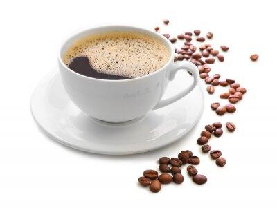 Adesivo Tazza di caffè isolato su bianco