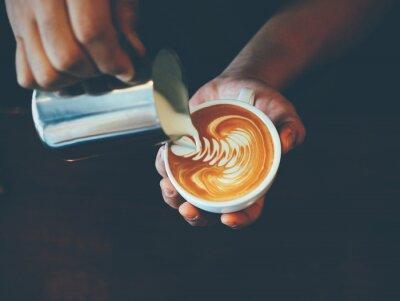 Adesivo Tazza di caffè latte art in caffetteria