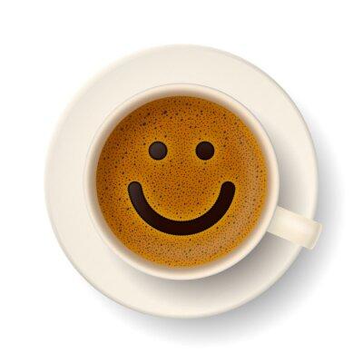 Adesivo Tazza di caffè per il buon umore