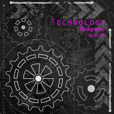 Adesivo Tecnologia sfondo sulla scheda di gesso.