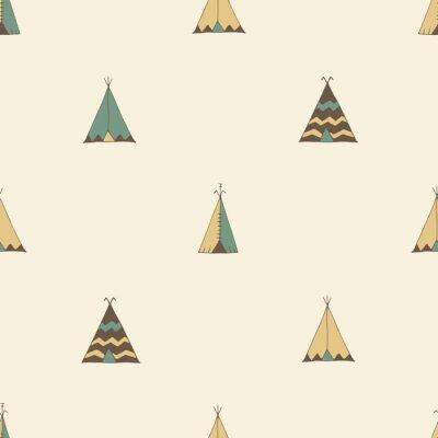 Adesivo Teepee nativo americano illustrazione tenda estate nel vettore.