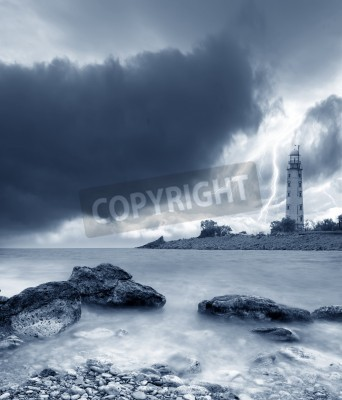 Adesivo tempesta sul mare