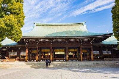 Adesivo Tempio Meiji Jingu a Tokyo, Giappone