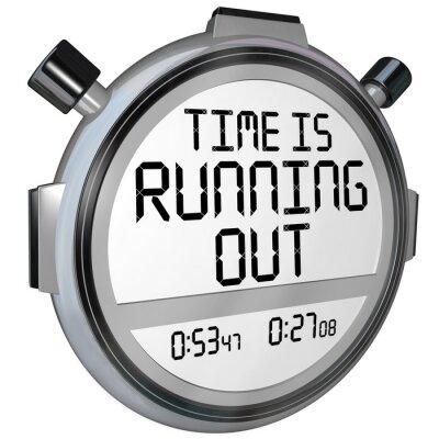 Adesivo Tempo si sta esaurendo cronometro Timer Orologio
