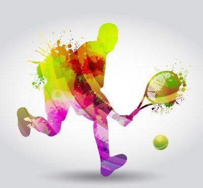 Adesivo Tennis, Competizione, torneo