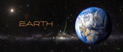 Adesivo Terra nello spazio.