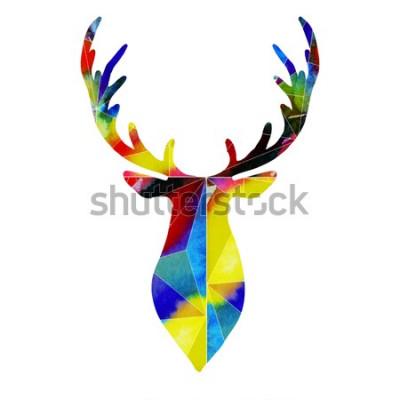 Adesivo testa di cervo