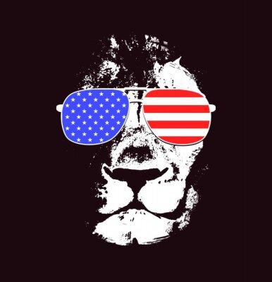 Adesivo Testa di leone. Vettore sfondo. Poster