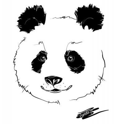 Adesivo testa panda