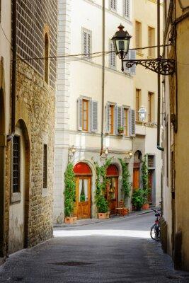 Adesivo The Via Lambertesca street at historic center of Florence, Italy