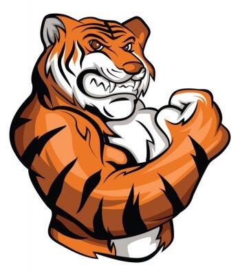 Adesivo Tiger Mascot