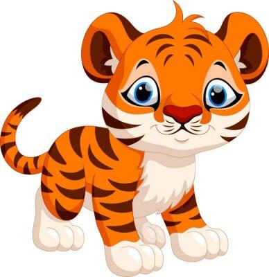 Adesivo Tigre cute cartoon