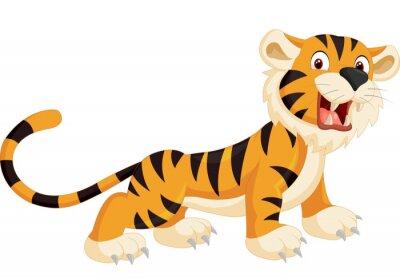 Adesivo Tigre cute cartoon ruggente