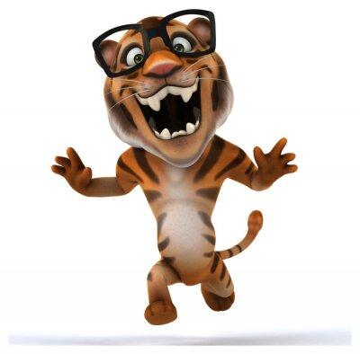 Adesivo tigre di divertimento