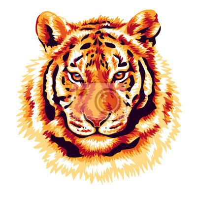 Adesivo Tigre Rosso