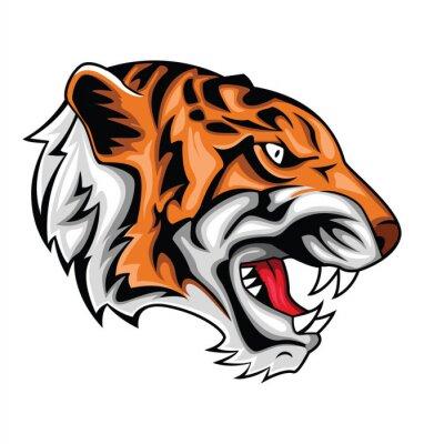 Adesivo tigre ruggito