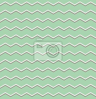 Tile Vettore Modello Marrone E Bianco A Zig Zag Su Sfondo Verde