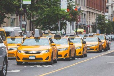 Adesivo Tipico giallo taxi a New York