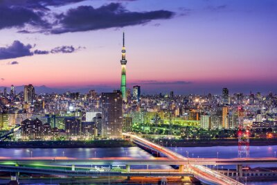 Adesivo Tokyo, Giappone Skyline