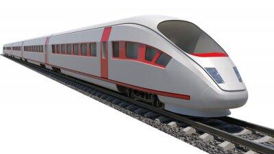 Adesivo Train on white background