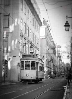 Adesivo Tram a Lisbona, retro