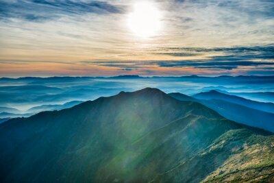 Adesivo Tramonto in montagna