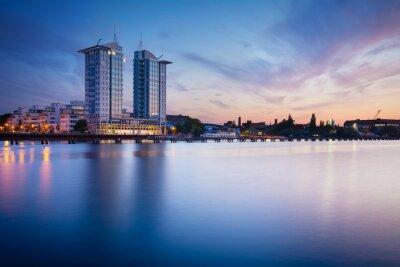 Adesivo Tramonto sul fiume Spree a Berlino