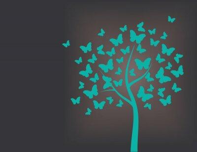 Adesivo Tree made of butterflies