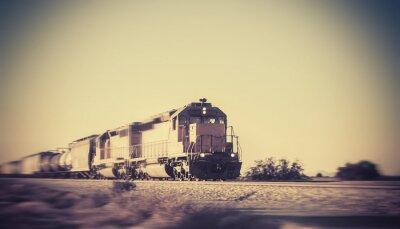 Adesivo Treno merci in viaggio attraverso il deserto dell'Arizona
