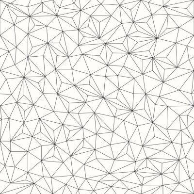 Adesivo Triangles background, seamless pattern, line design
