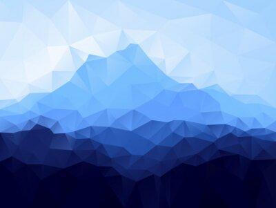 Adesivo Triangolo sfondo geometrico con montagna blu