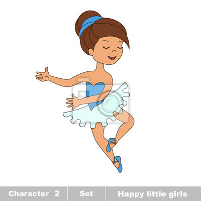 Un Cartone Animato Ragazza Ballerina Adesivi Per Il Computer